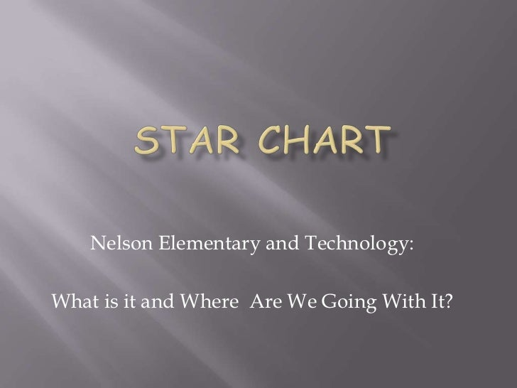Star Chart <br />Nelson Elementary and Technology:<br />What is it and Where  Are We Going With It?  <br />