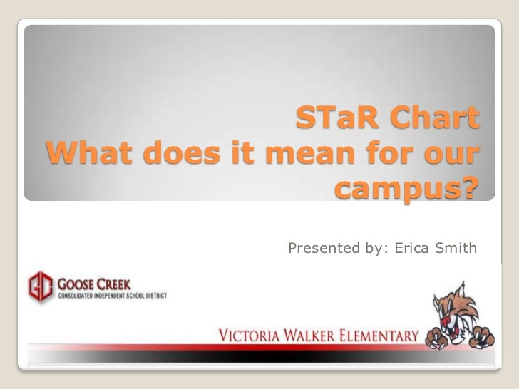 STaR ChartWhat does it mean for our                campus?             Presented by: Erica Smith