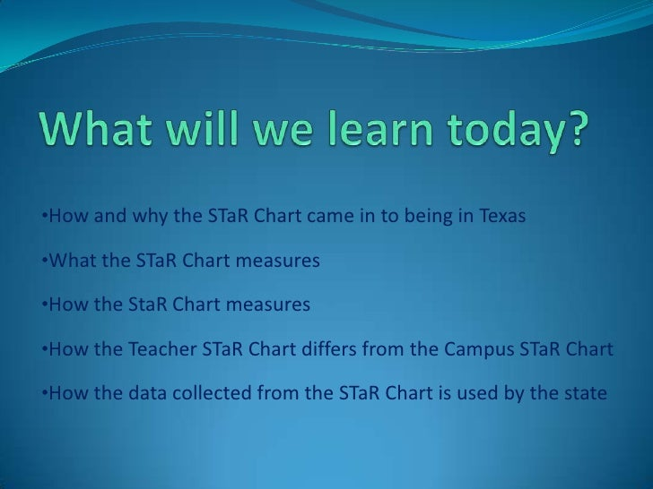 What will we learn today?<br /><ul><li>How and why the STaR Chart came in to being in Texas