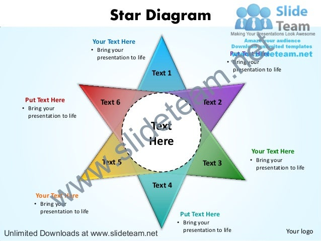 star diagram powerpoint slides presentation diagrams templates rh slideshare net Extra Large Star Template Printable Large Star Template for Tracing