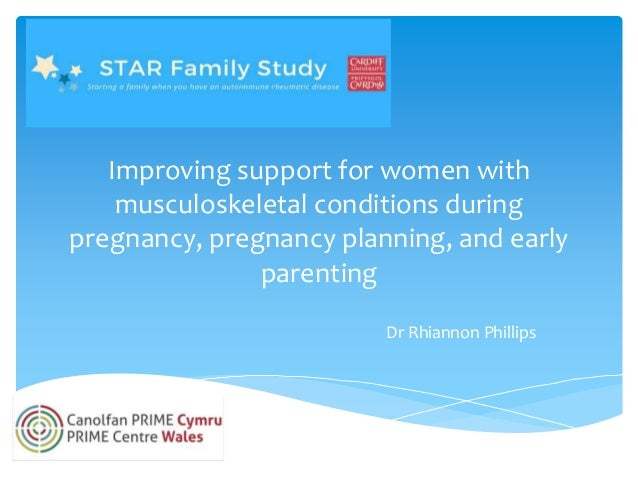Improving support for women with musculoskeletal conditions during pregnancy, pregnancy planning, and early parenting Dr R...