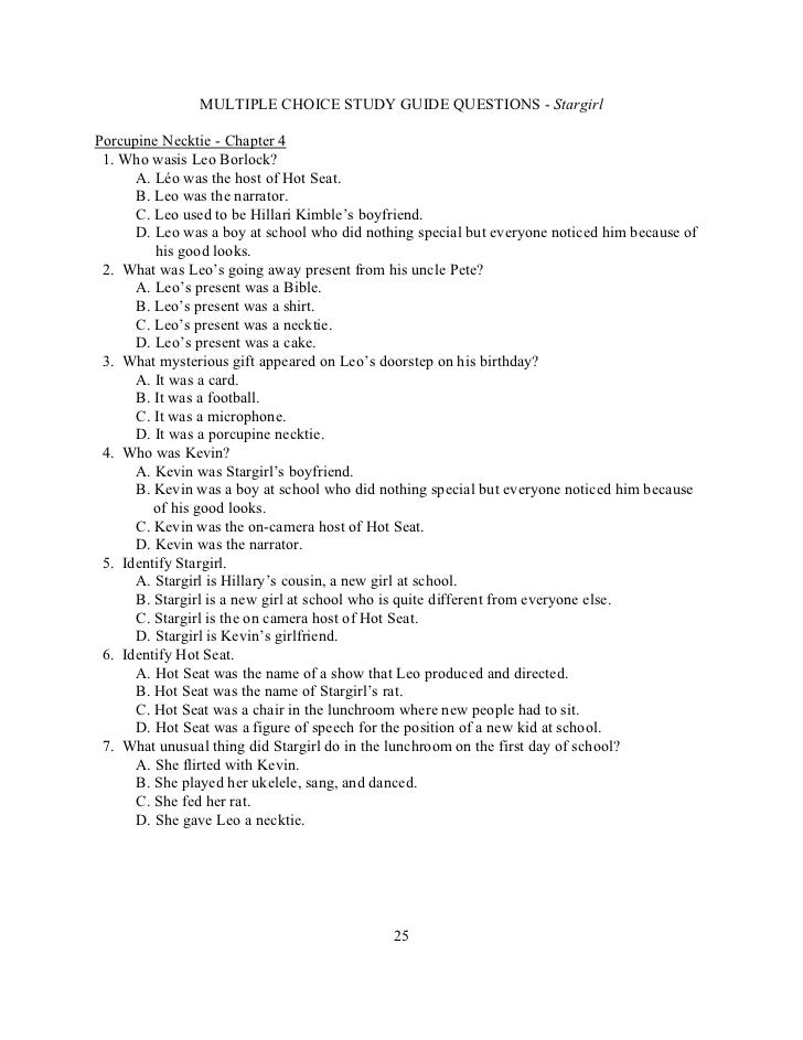 stargirl lesson plan rh slideshare net Study Guide Format Great Expectations Study Guide Questions