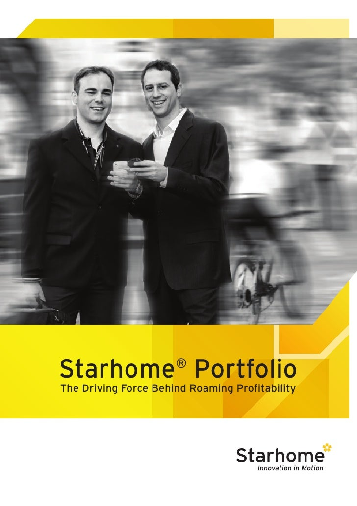 Starhome Portfolio    ®The Driving Force Behind Roaming Profitability