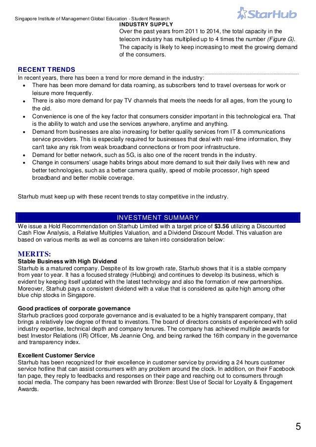 Starhub Investment Report