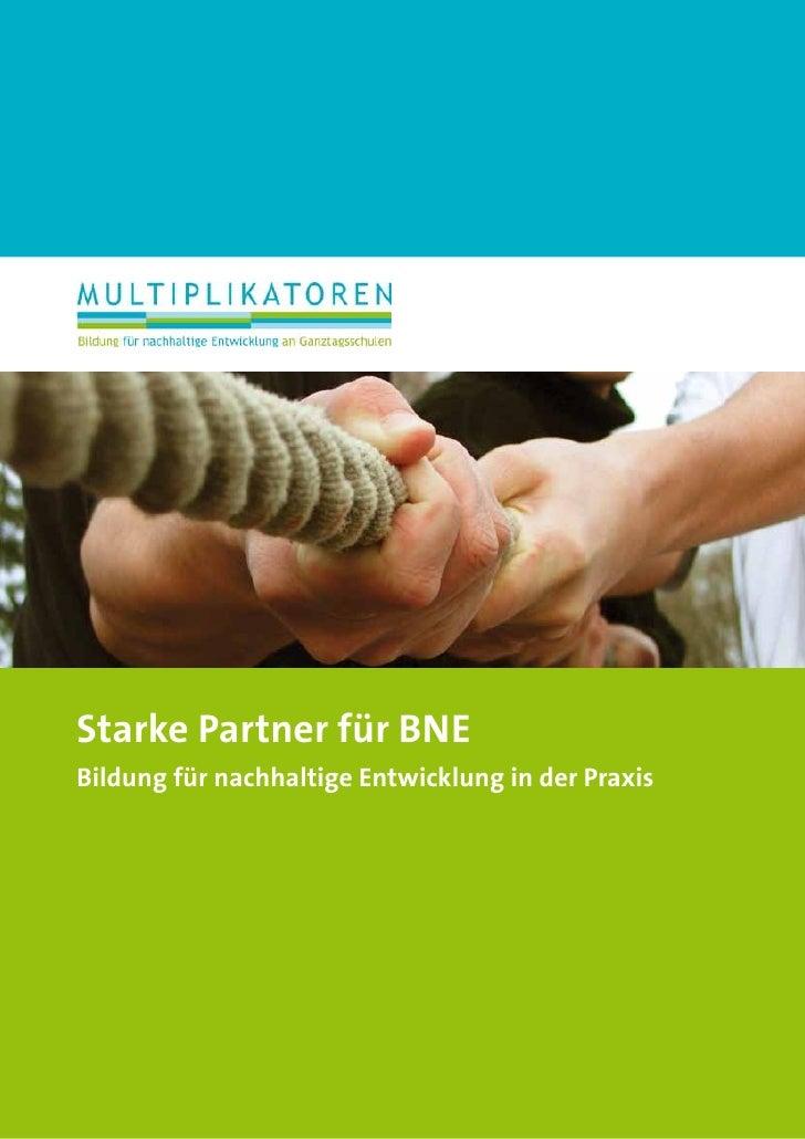 Starke Partner für BNEBildung für nachhaltige Entwicklung in der Praxis