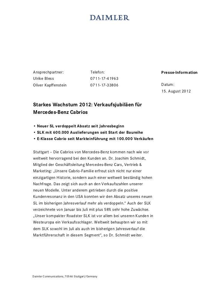 Ansprechpartner:                          Telefon:                    Presse-InformationUlrike Bless                      ...