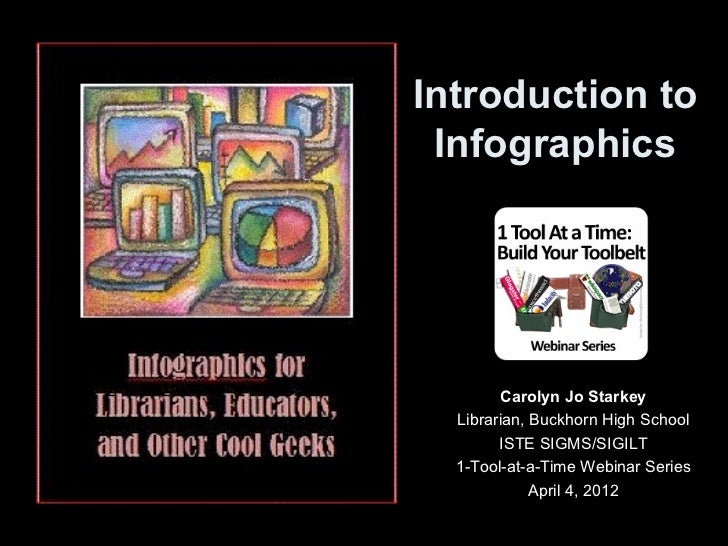 Introduction to Infographics        Carolyn Jo Starkey  Librarian, Buckhorn High School        ISTE SIGMS/SIGILT  1-Tool-a...