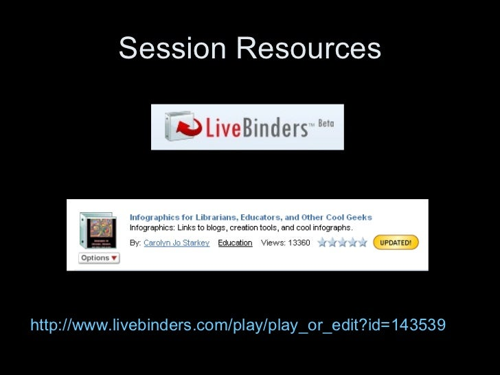 Session Resourceshttp://www.livebinders.com/play/play_or_edit?id=143539