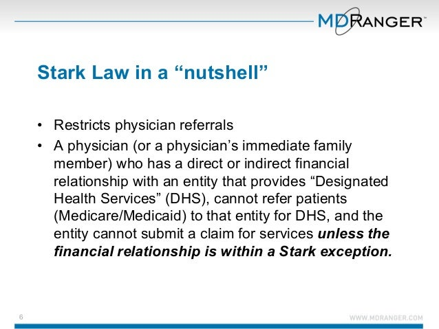 stark law Stark law is causing concern for healthcare systems, providers, and admin-  istrators attempting to transition to an increasingly technical, quality-driven.