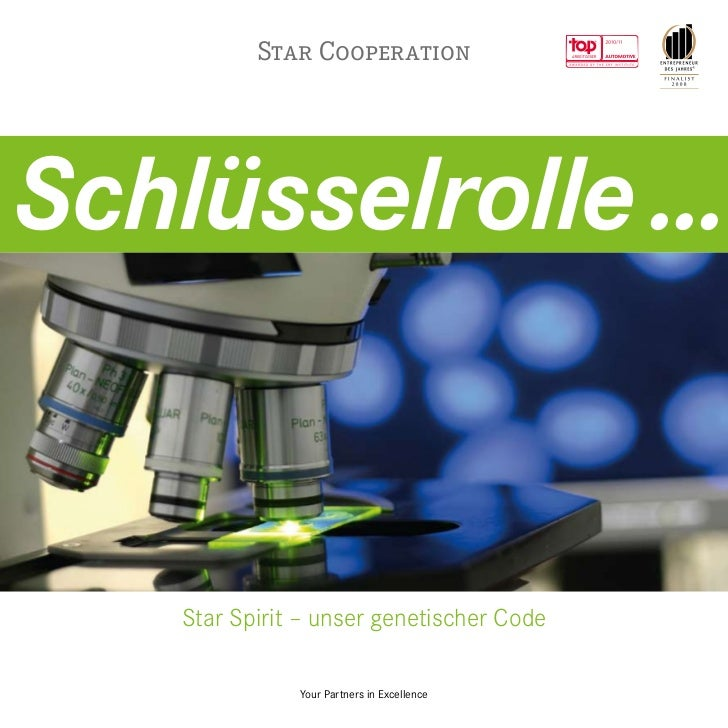 Star CooperationSchlüsselrolle ...    Star Spirit – unser genetischer Code               Your Partners in Excellence