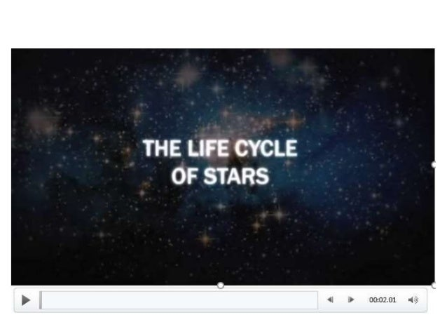 EVOLUTION AND LIFE CYCLE OF STARS