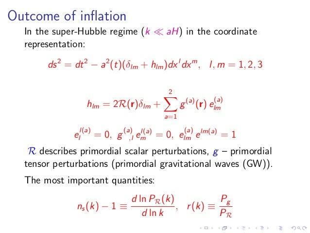 In fact, metric perturbations hlm are quantum (operators in the Heisenberg representation) and remain quantum up to the pr...