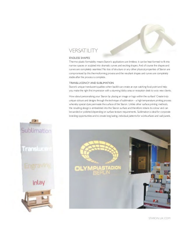 staron brochure. Black Bedroom Furniture Sets. Home Design Ideas