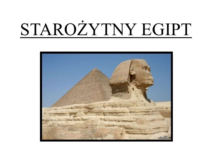 STAROŻYTNY EGIPT<br />