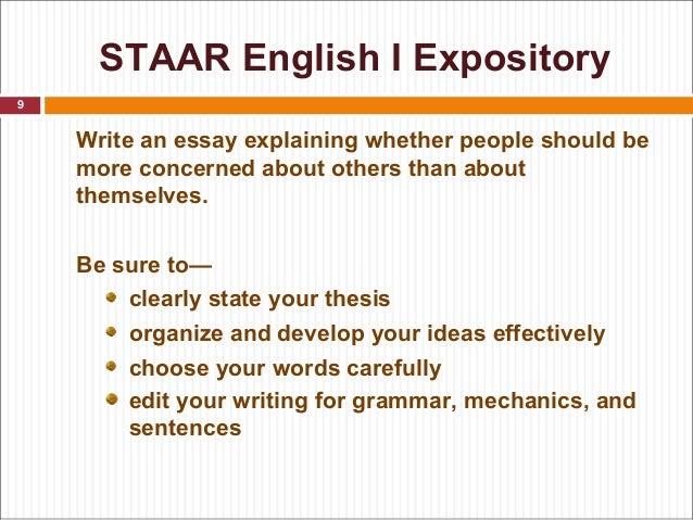 staar expository essay powerpoint