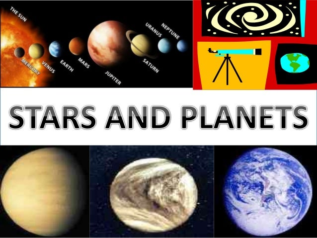 Stars and planets Slide 2