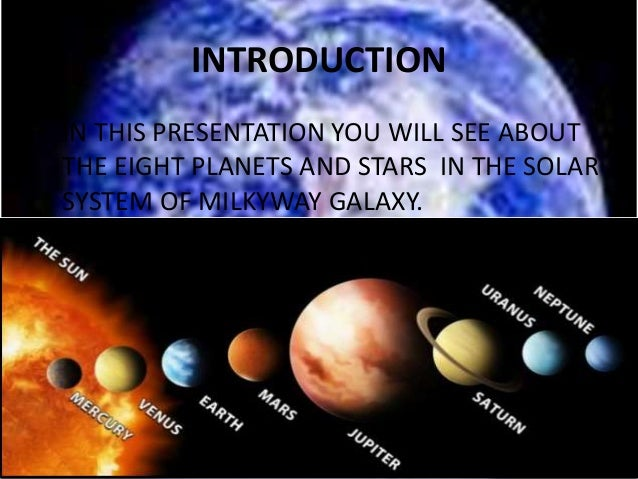 Stars and planets Slide 3