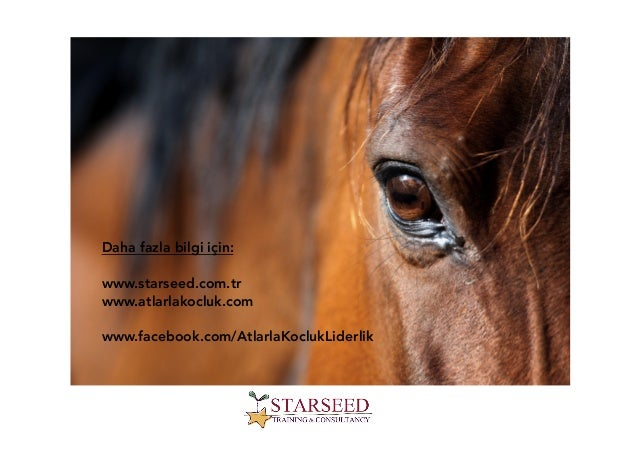 Daha fazla bilgi için: www.starseed.com.tr www.atlarlakocluk.com www.facebook.com/AtlarlaKoclukLiderlik