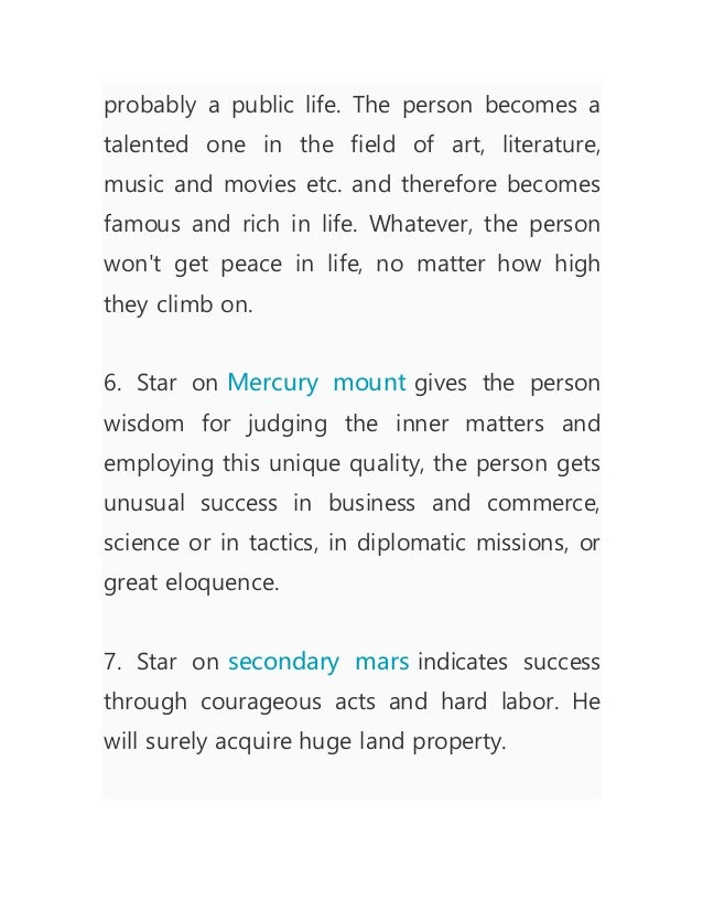 Star sign on hand effects @palmistry