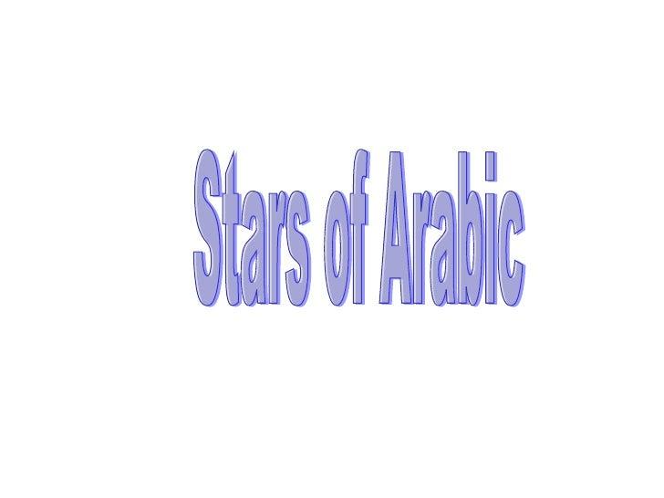 Stars of Arabic