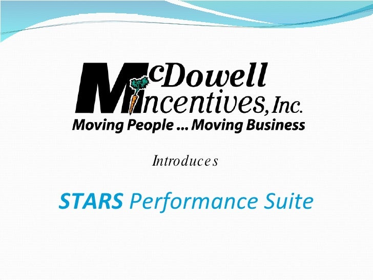 Introduces STARS   Performance Suite