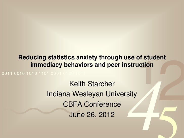 Reducing statistics anxiety through use of student                                                1                       ...