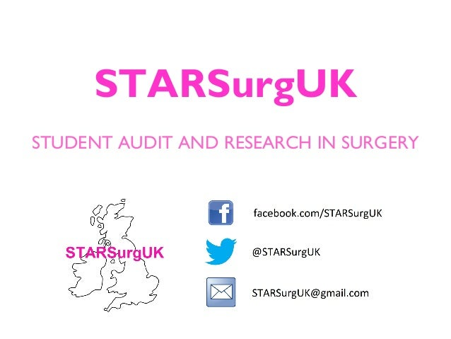 STARSurgUK STUDENT AUDIT AND RESEARCH IN SURGERY