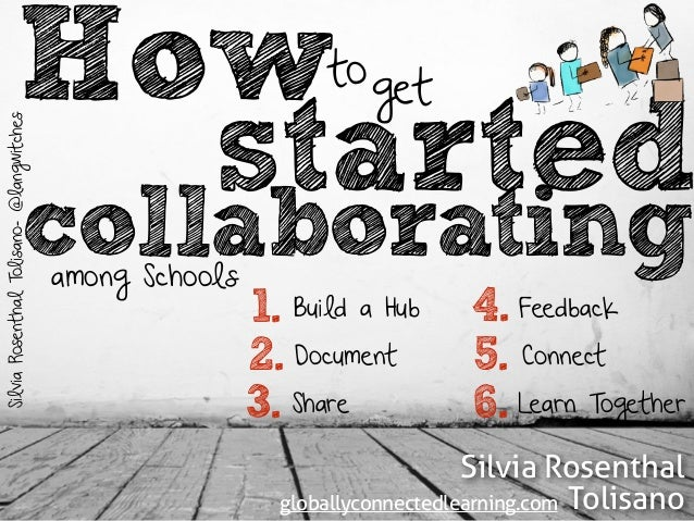 How get  to  started  Silvia Rosenthal Tolisano- @langwitches  collaborating  among Schools  1.  2.  3.  4.  5.  6.  Build...