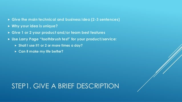 how to create a brief business plan