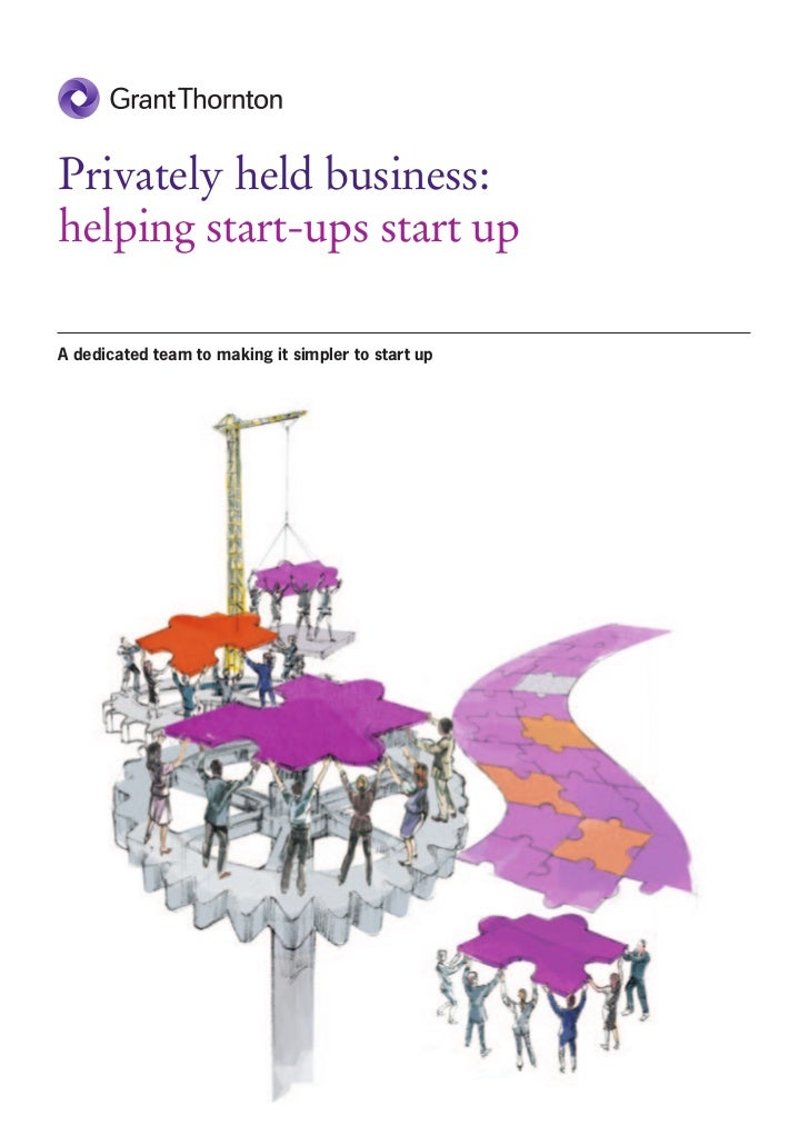 Privately held business:helping start-ups start upA dedicated team to making it simpler to start up