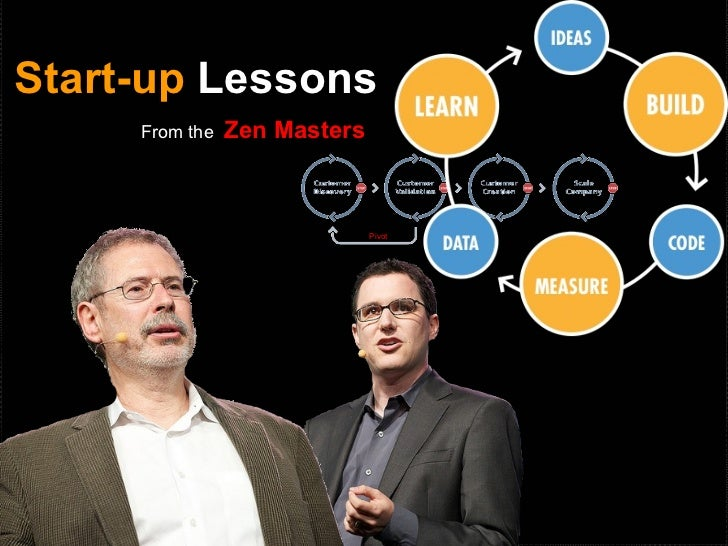 Start-up Lessons     From the   Zen Masters                              Pivot