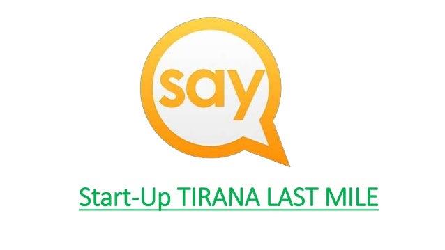 Start-Up TIRANA LAST MILE