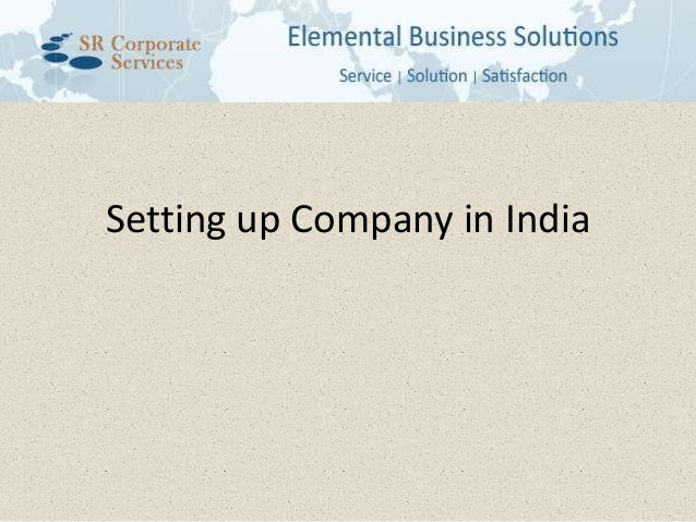 Setting up Company in India