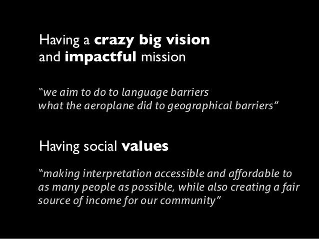 """Having a crazy big vision and impactful mission """"we aim to do to language barriers what the aeroplane did to geographical ..."""
