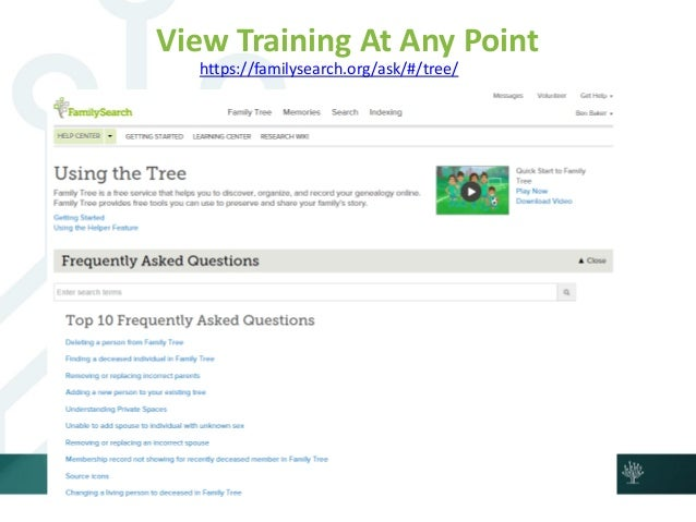 Start and Grow Your Family Tree on FamilySearch org