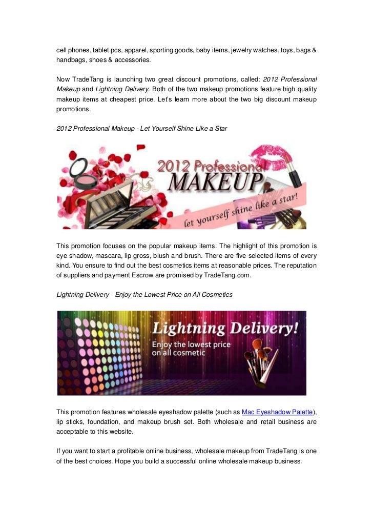 Start a successful wholesale makeup business at trade tang.com