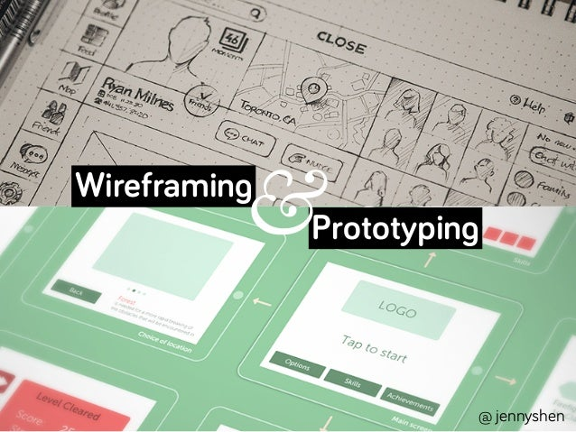 Wireframing Prototyping @ jennyshen &