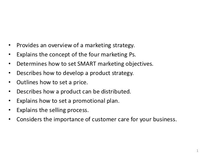 •   Provides an overview of a marketing strategy.•   Explains the concept of the four marketing Ps.•   Determines how to s...
