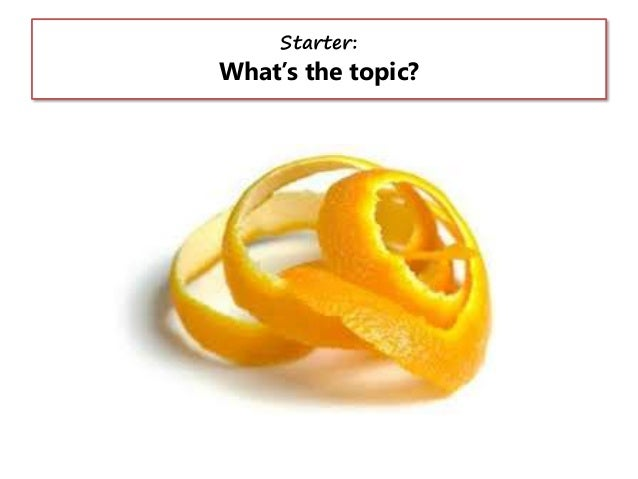 Starter:  What's the topic?