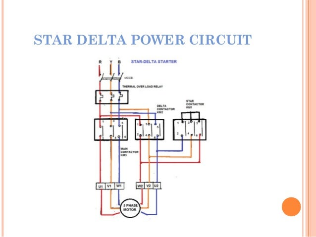 Star Delta Starter Power And Control Circuit Diagram Pdf ...