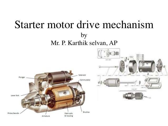 starter motor drive mechanism starter clutch gear starter pinion gear schematic #12