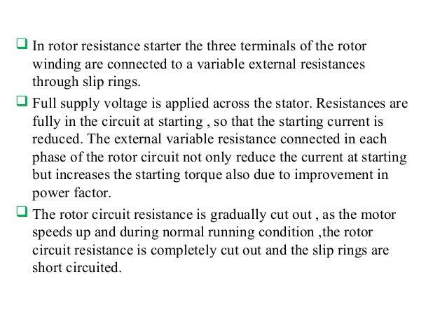 Starter of an induction motor for General motors drug test
