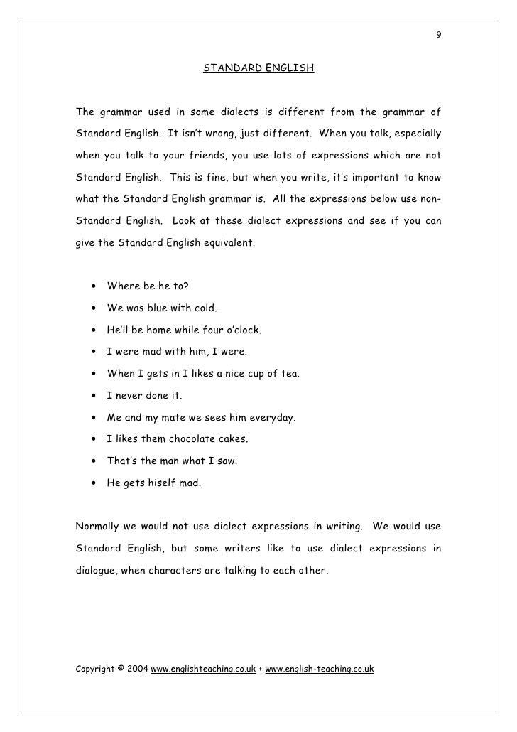 Starter Worksheets