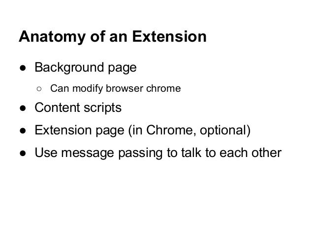Writing Browser Extensions for fun and profit Slide 3