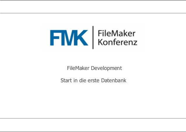 FileMaker Development Start in die erste Datenbank