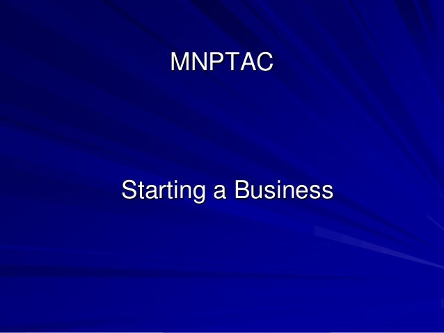 MNPTAC  Starting a Business