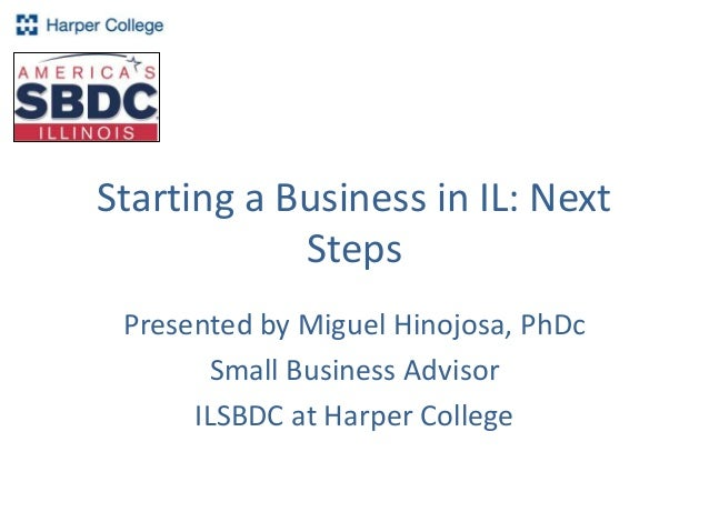 Steps to starting a business presentation