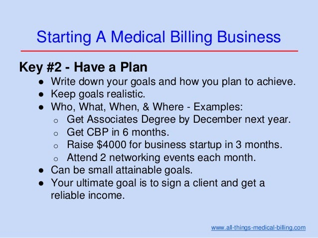 How to write a medical billing business plan
