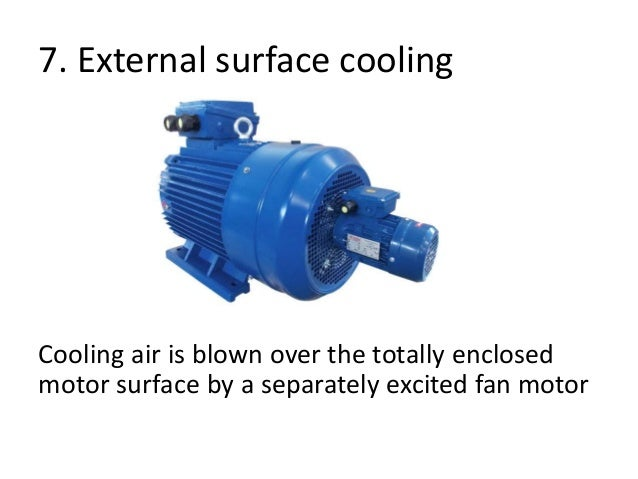 Starting and cooling methodes of motor for Totally enclosed fan cooled motor