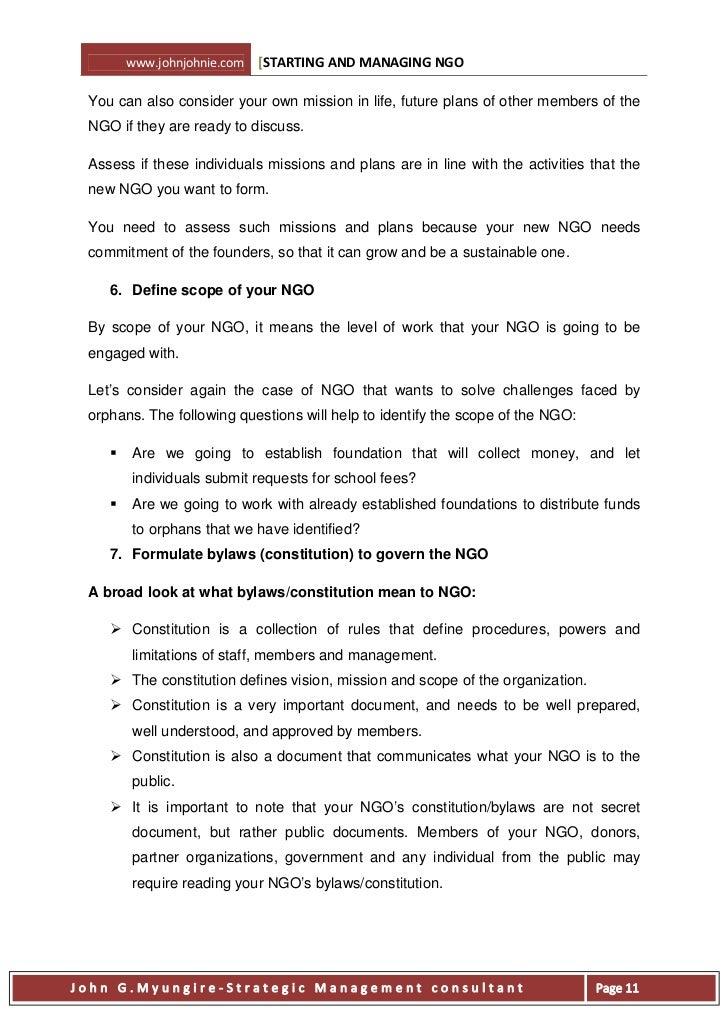 starting and managing ngo ebook